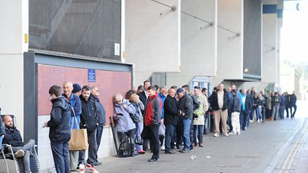 Queue for Play off tickets home leg at Ipswich
