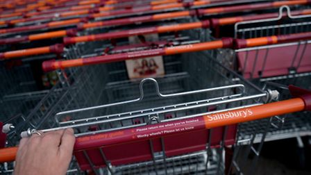 Sainsbury's has announced its first annual profits fall in a decade.