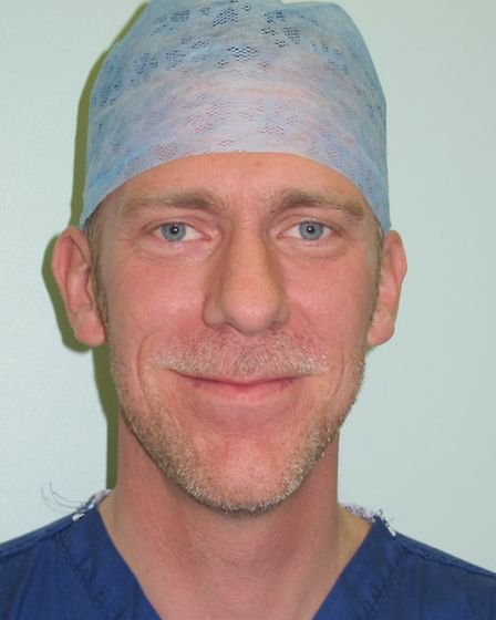 Nic Wardle, consultant orthopaedic surgeon, Colchester General Hospital.