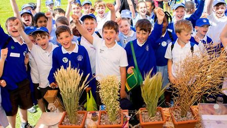 Essex children at the 8th Food and Farming Day held at Writtle College on Thursday, June 4.
