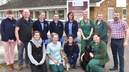 Uplands Way Vets staff in 2015 outside the former clinic in Diss where planning permission has now b