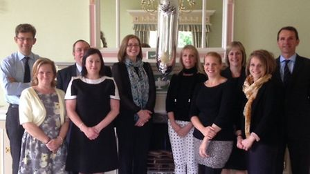 Ellisons' Ipswich team celebrate the firm's first year at Wherstead Park.