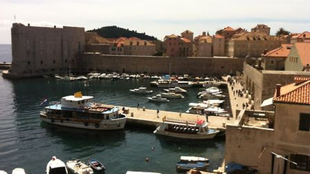 The harbour at Dubrovnik's old city