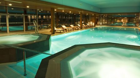 The indoor pool at the Hotel Dubrovnik Palace