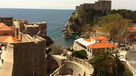 The walls of Dubrovnik's old city