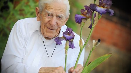 Norman Smith with the iris named after him