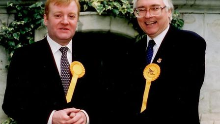 Charles Kennedy with former Colchester MP Sir Bob Russell.