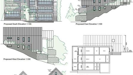 Artist impression of planned new apartments that would overlook Diss Mere. Picture: KD Architects/So