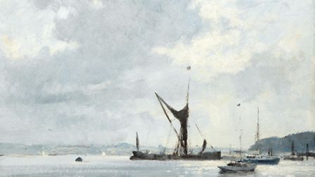 Edward Seago's Spritsail barge on the River Orwell.