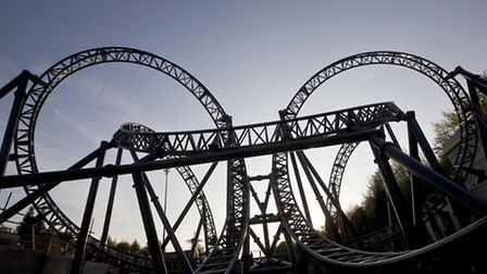 Alton Towers Resort in Staffordshire unveils The Smiler, the worlds first 14-looped rollercoaster.