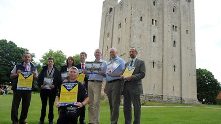 The launch of the Heritage Watch scheme at Hedingham Castle in Castle Hedingham. L-R: Terry Fowles (