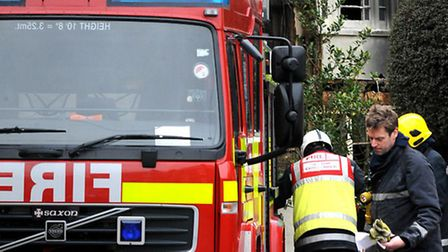 Firefighters dealt with a summer house fire in Hadleigh