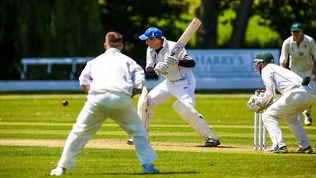 Frinton's Ted Moulton batting during the Frinton on Sea v Woolpit (East Anglian Premier League) cric
