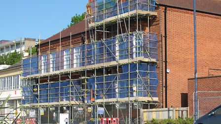 Repairs taking place at Felixstowe Town Hall.