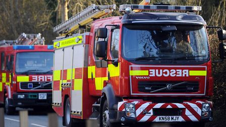Two fire crews were sent to the scene