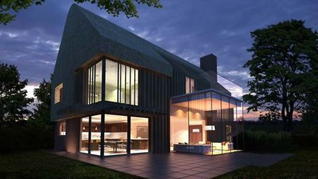 Artists impression of what the new eco-house near Hoxne would look like. Picture: Hunter Architects