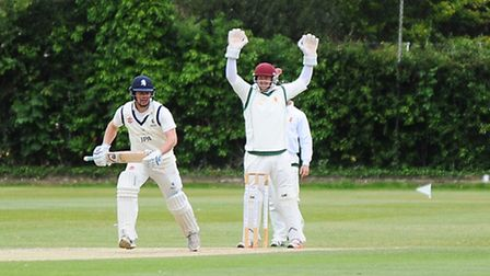 Suffolk v Lincolnshire at Victory Ground, Bury St Edmunds. Final day of Suffolk cricket playing Linc