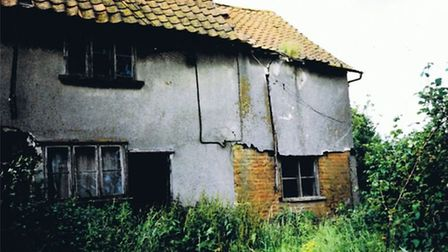 The existing listed 17th century farmhouse near Hoxne which developers want to demolish. Picture: Hu