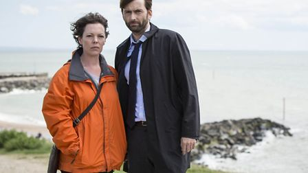 David Tennant and Olivia Colman in their roles as Detective Inspector Alec Hardy and Detective Serge