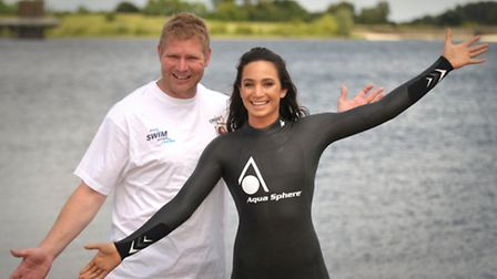 Suprano and Sports Aid ambassador Laura Wright and cricketing legend Matthew Hoggard took part in a
