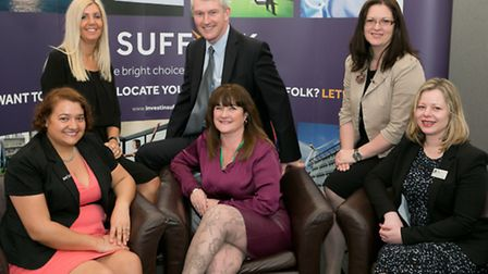 Members of the organising team behind the 2015 Suffolk Skills Show. Back row, from left: Sonia Shelc