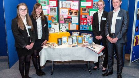 Members of the Yento team from Thomas Mill High School won the Suffolk final of the Young Enterprise