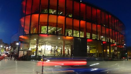 The Willis building bathed in red light to mark the 40th anniversary celebrations