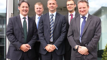 From left, Jim Davison of EEF, Keith Ferguson of BDO, Paul Nelson of Barclays, and Paul Sparks and