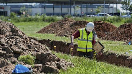 An archaeological dig is underway on the proposed Stane Park Leisure Quarter development in Stanway.