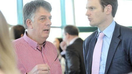 Tony Stockman chats with Dr Dan Poulter MP at last year's Ready for Growth business seminar at Framl