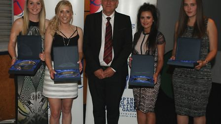 Ladies' 25 Appearances – Awards for making 25 appearances for Suffolk FA Ladies were presented to le