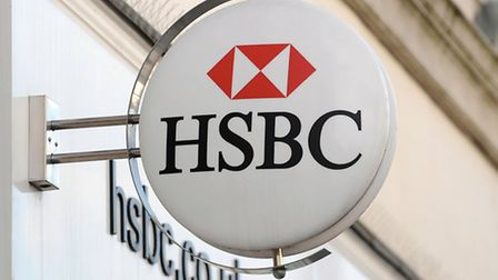 A branch of HSBC, as the banking giant is to cut between 22,000 and 25,000 jobs globally including a