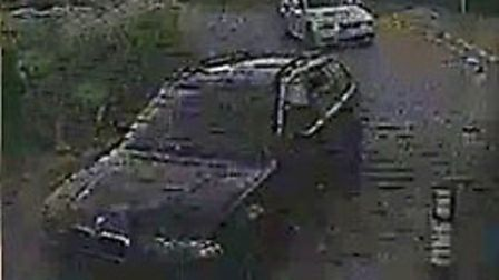 Detectives investigating a burglary in West Row are releasing CCTV images of blue BMW estate they wo