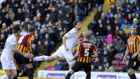 Tom Eastman, in action against Bradford last season. U's boss Tony Humes is looking for an experienc