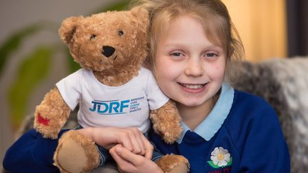 Long Stratton Primary School pupil Seren Paddon has taken a recent diabetes diagnosis in her stride,