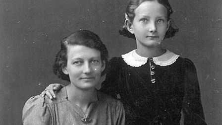 Kathleen May and her mum - a picture for dad to carry during the war