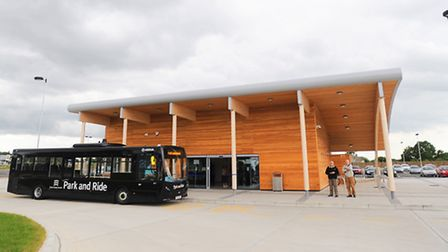 Colchester's park and ride terminal.