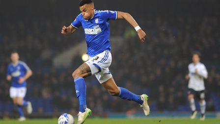 Tyrone Mings in action for Ipswich Town. Photo: Sarah Lucy Brown
