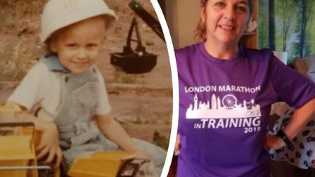 Clare Jacobs is running the London Marathon to raise thousands for cancer charity CLIC Sargent in me