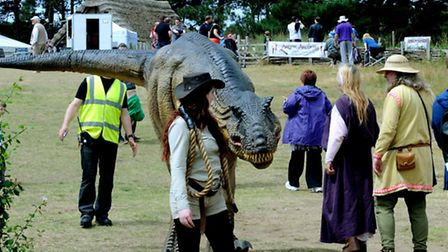 West Stow Anglo-Saxon village hosted its first Dragon Festival at the weekend. Rex the T-Rex meetin