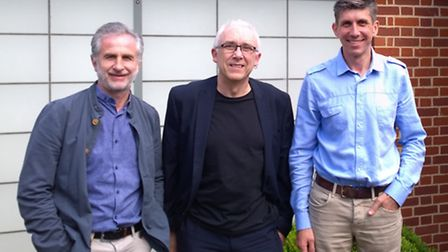 Alan Wilkinson with KLH Architects partners Martyn Goodwin (left) and Alan Howard (right).