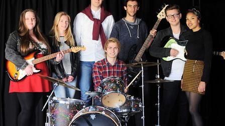Performing arts students from Thurston Community College (Beyton Campus). Left to right, Lucy Bertra