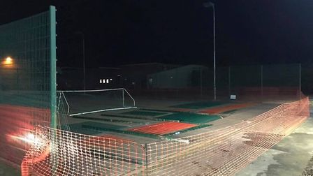 Heywood Health and Fitness are building a new artificial grass five-a-side football pitch. PHOTO: An