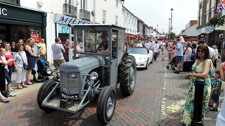 The Stowmarket carnival procession last year