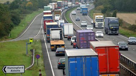 The A14 in Cambridgeshire was regularly prone to congestion.