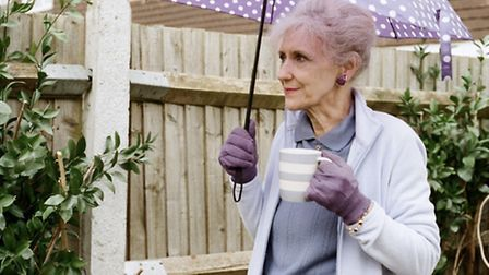 Anita Dobson as June a London Road resident in the film version of the critically aclaimed stage mus