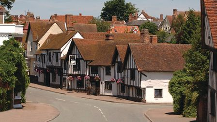 The Swan at Lavenham where Jane learned to dance