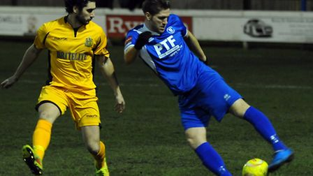 John Sands in action for Bury Town