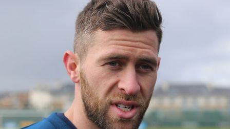 Republic of Ireland's Daryl Murphy talks to the media during the training session at Gannon Park, Ma