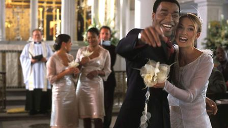 Keira Knightley and Chiwetel Ejiofor in Love Actually, a film by Suffolk resident Richard Curtis, a